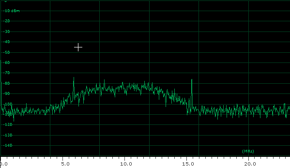 AR5000 IF output spectrum